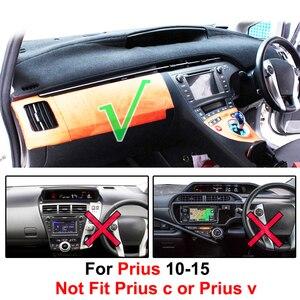 Image 2 - Xukey dla Toyota Prius XW30 2010 2011 2012 2013 2014 2015 pokrywa deski rozdzielczej Dashmat mata na deskę rozdzielczą Pad parasol przeciwsłoneczny mata na deskę rozdzielczą