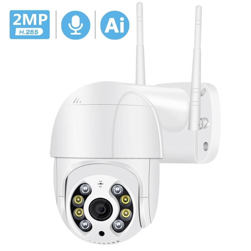 1080P PTZ cámara inalámbrica IP impermeable 4X Zoom Digital velocidad Domo Super Mini WiFi seguridad CCTV Cámara Audio AI detección humana