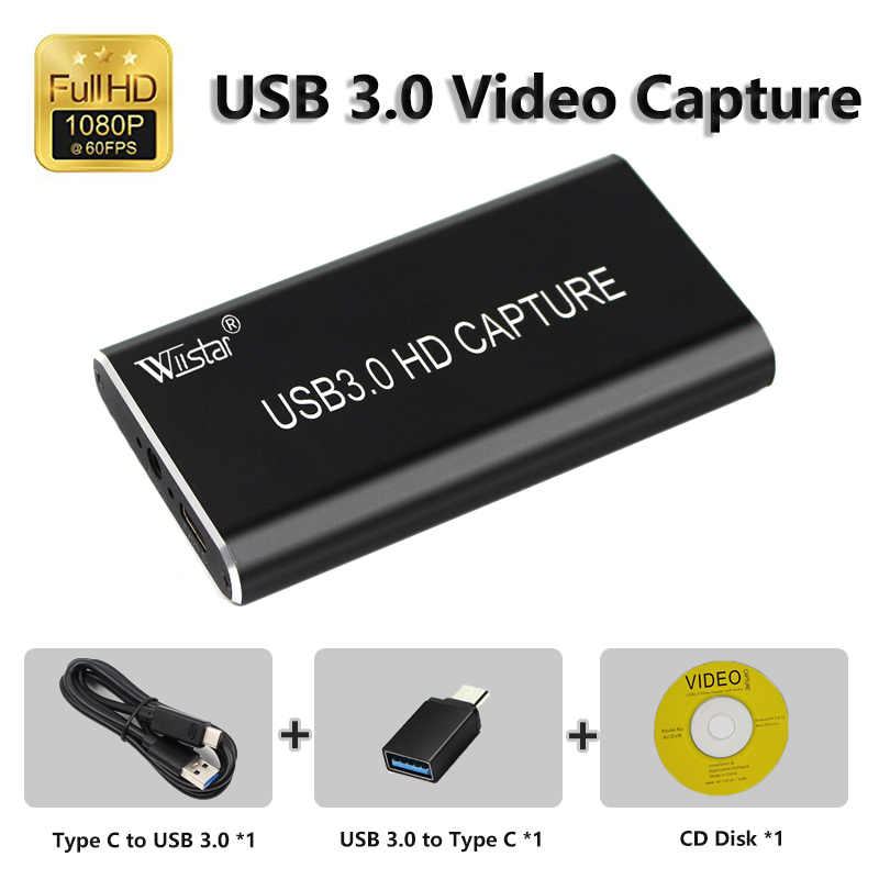 USB 3.0 Capture HD To USB3.0 Video Capture Dongle HD 1080P HD Drive Free Superior Capture Device For PS3 Game Stream Living