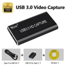 Купить с кэшбэком USB 3.0 Capture HD to USB3.0 Video Capture Dongle HD 1080P HD Drive Free Superior Capture Device for PS3 Game Stream Living