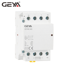 GEYA 4P Contactor 40A 63A 4NO or 2NC2NO 220V/230V 50/60HZ Din Rail Household AC Modular