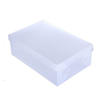 1pcs Transparent Shoes Storage Box Foldable Plastic Shoe Storage Case Holder Shoebox Dust-proof Shoes Organizer Boxe image