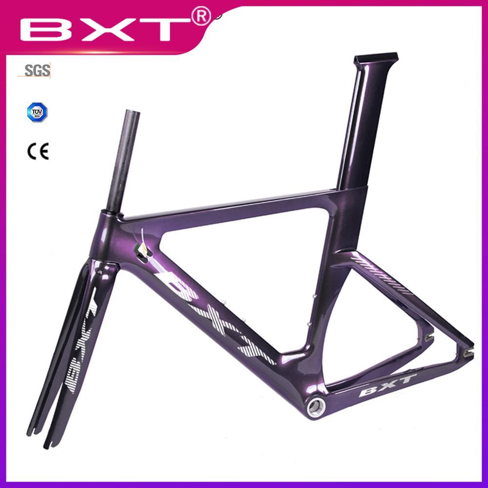 Cadre de route BXT plein cadre de route en carbone cadre de vélo à engrenages fixe avec fourche tige de selle 49/51/54cm cadre de pièces de vélo en carbone