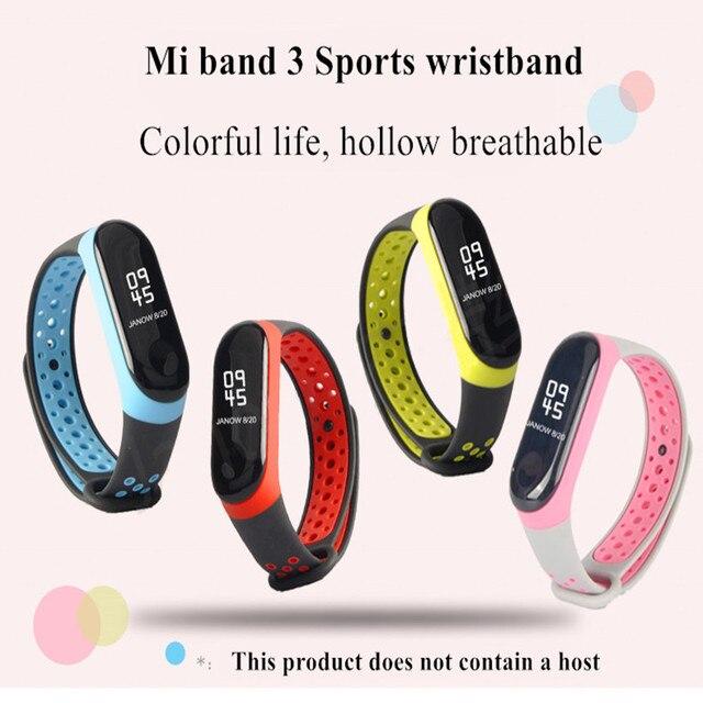 Para mi banda 3 4 cinta esporte silicone relógio de pulso pulseira mi band3 acessórios pulseira inteligente para xiao mi mi banda 3 4 cinta 2
