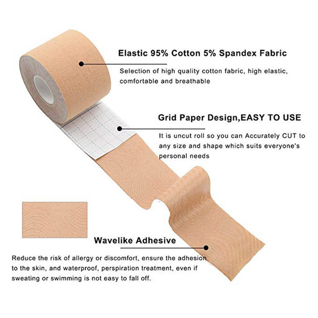 1 Roll 3 Colors Women Self Adhesive Breast Lift Tape Strapless Bandage Backless Sexy Bra Silicone Push Up Lingerie Invisible Bra 3