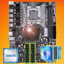 Brand motherboard on sale HUANANZHI X58 motherboard with CPU Intel Xeon X5675 3.06GHz with cooler 8G(2*4G) DDR3 REG ECC memory