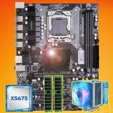מותג האם על מכירה HUANANZHI X58 האם עם מעבד Intel Xeon X5675 3.06GHz עם cooler 8G(2*4G) DDR3 REG ECC זיכרון