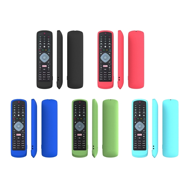 Dustproof Soft Silicone Case Remote Control Protective Cover for Philips SMART TV NETFLIX TV Remote Control