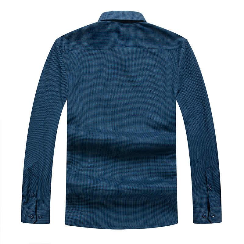 Più Il Formato 8XL 7XL 6XL Camicia Vestiti Degli Uomini di Inverno Nuovo Casual Spessore Caldo Camicia Mens Cashmere a Maniche Lunghe Camicette semplice Streetwear