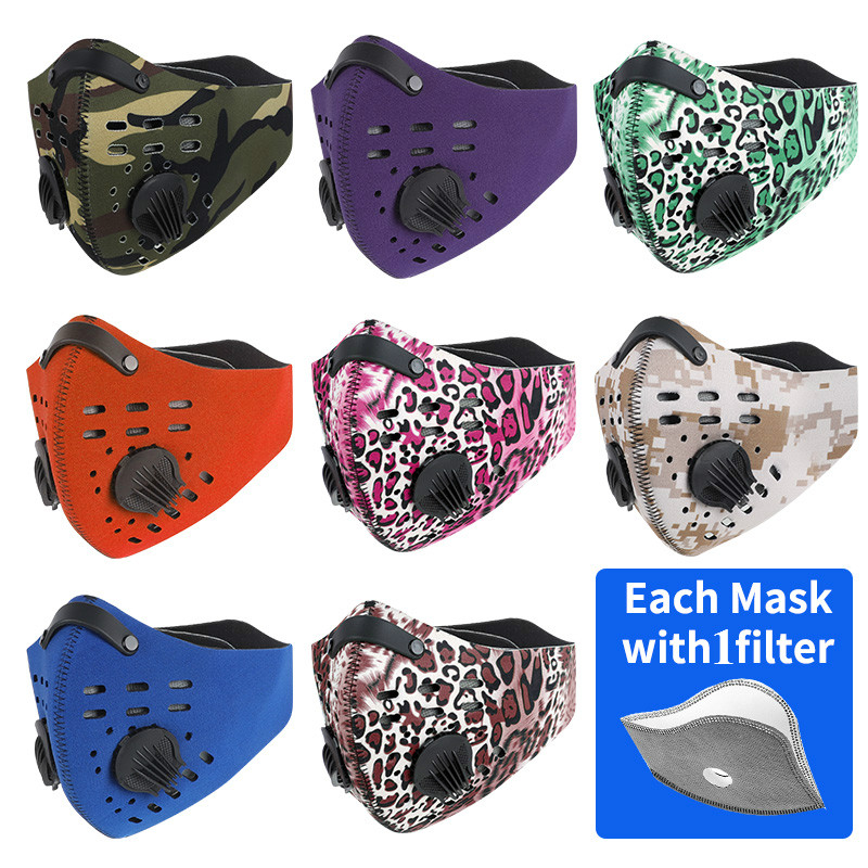 WEST BIKING Windproof Sport Face Mask Dust-proof Half Face Mask N95 PM2.5 Filter Mask Anti Coronavirus Mask Bike Cycling Mask 1