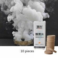 10pcs Della Torta Fumo Pillole Decorazione di Halloween Dramma Mostra Fumo Bianco Bomba Pillole Puntelli Festa di Nozze sfondo Decorazione Nebbia
