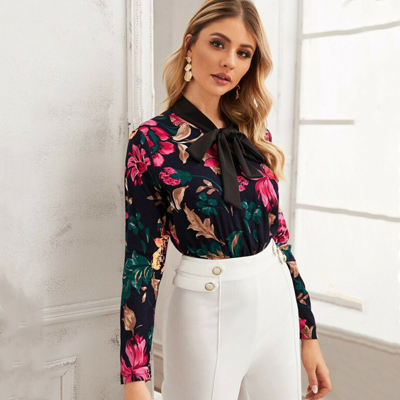 Hirigin Women Retro Floral Print Bodysuit Spring Printed Long Sleeve Body Jumpsuit Club Wear Deep V Romper Combinaison OL Female