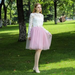 Image 5 - Женская фатиновая юбка пачка средней длины, 5 слоев, 60 см