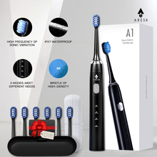 ARESH A1 Electric Toothbrush Smart Rechargeable Sonic Toothbrush 3 Mode Adult Timer IPX7 Waterproof Automatic Ultrasonic Brush