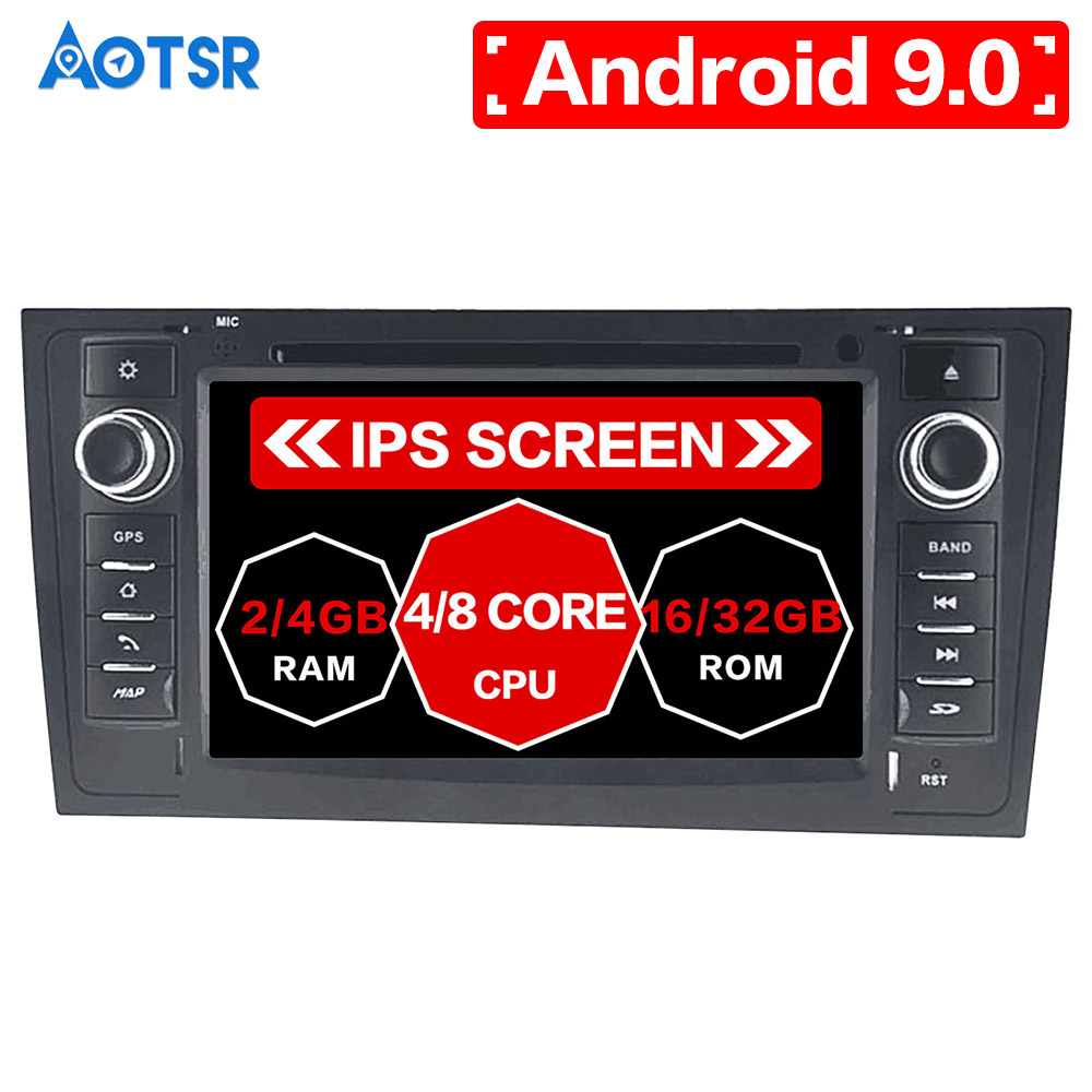 Aotsr <font><b>Android</b></font> 9.0 GPS Navigation Car DVD Player For <font><b>AUDI</b></font> <font><b>A6</b></font> RS6 1997-2005 video Head unit multimedia player radio tape recorder image