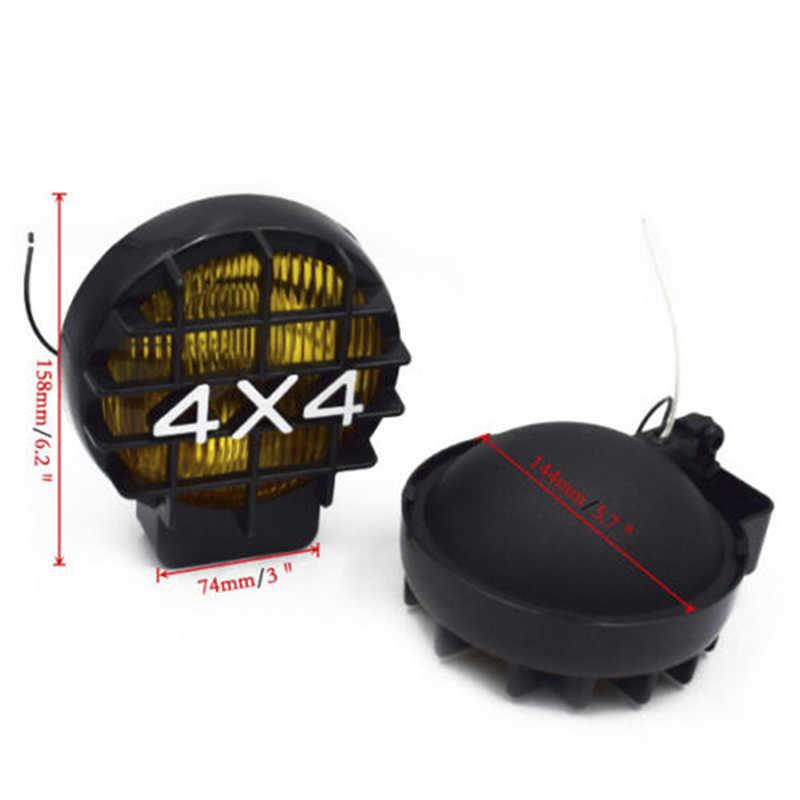 1 個車オフロードライトワークヘッドライトsuvオフロードフォグライトランプハロゲンH3 電球 4 × 4 スポットライト