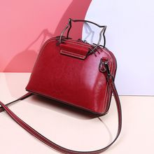 Vento Marea Women Tote Bag Leather Split Cat Shell Cross Body 2019 Female Shoulder Handbag Red Wine Girls Purse Crossbody
