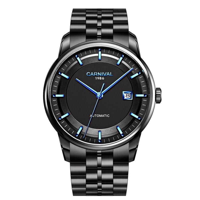 Fashion MIYOTA 9015 Automatic Watch Luxury brand CARNIVAL Mechanical Watch Sapphire mirror Calendar Waterproof Watches mens 2020