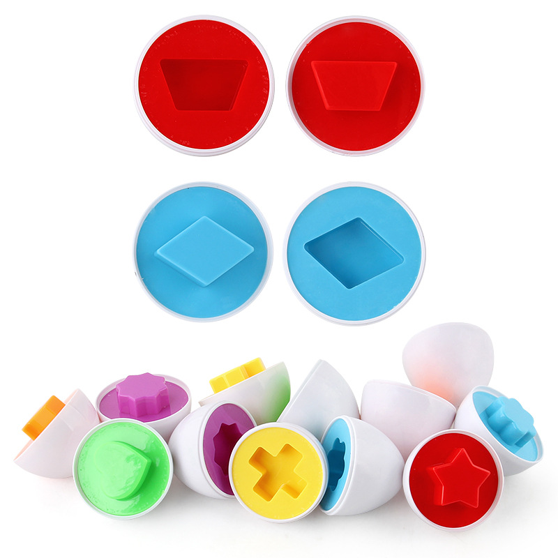 3pcs New Learning Education Math Toys Smart Eggs 3D Puzzle Game For Children Popular Toys Jigsaw Mixed Shape Tools