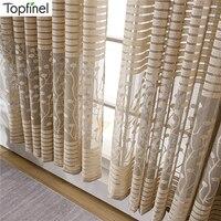 Cortina moderna transparente para ventana, cortinas para sala de estar, dormitorio, cocina, tratamiento de ventanas, tela Avanced Aollow