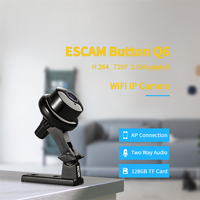ESCAM Q6 1.0MP 720P Button Mini Wireless Camera Wifi Two way Voice Indoor IR CUT Night Vision CCTV Home Security IP Camera Wi fi