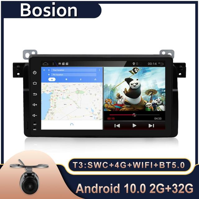 """Bosion Android 10.0 Do Carro DVD GPS Navi Multimedia Player para BMW E53 X5 E39 5 97 06 com Wi fi 4G BT RDS Radio 2G ROM 9 """"Full Touch"""