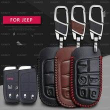 Fob-Cover Case-Holder Keychain Remote-Key Wrangler Renegade Patriot Jeep Grand-Cherokee