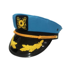 Adult captain sailor yacht sergeant hat white hat navy army cap captain classic costume show cosplay cap2020(China)