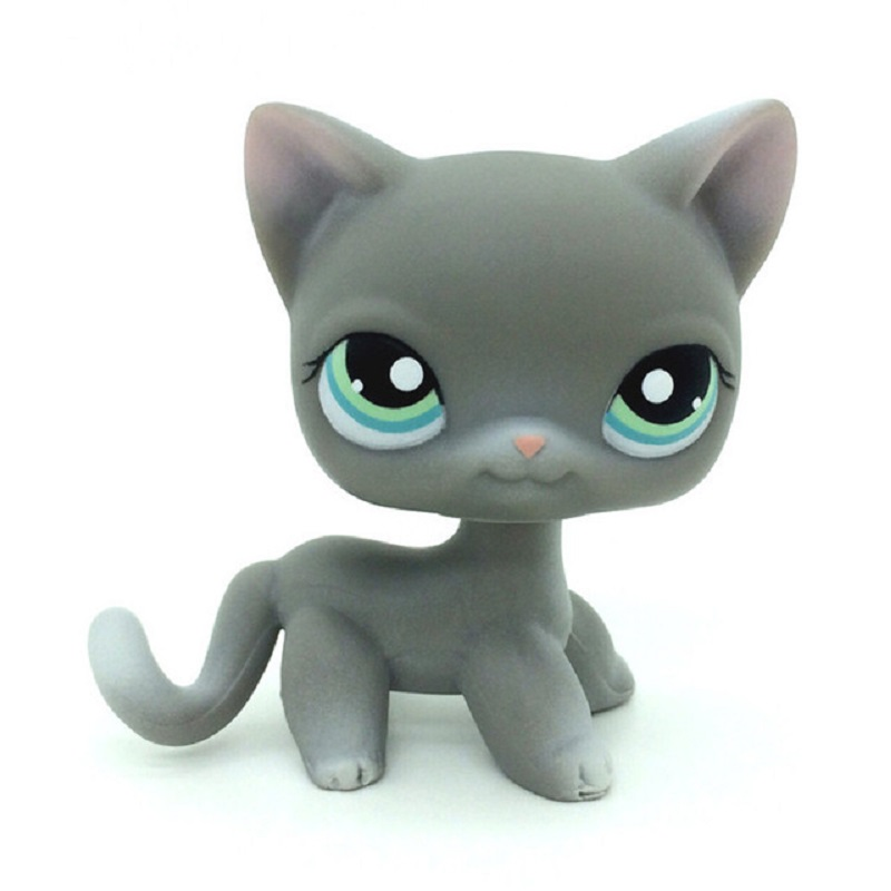 New LPS Cat Pet Shop Toy Shorthair Cat Collection Classic Hand Role-playing Action Children's Gift