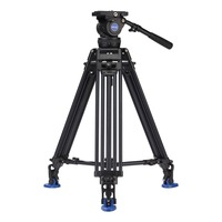 Benro BV10 Aluminum Alloy Twin Leg Video Tripod Kit Max loading 10KG Includes Video Head for DSLR camera video