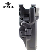 Fma tático glock coldre militar ocultação nível 3 mão direita cinto da cintura pistola coldre para glock 17 19 22 23 31