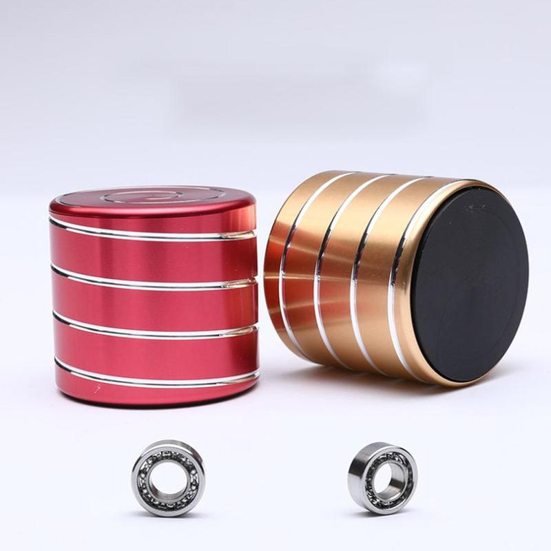 Decompression Gyroscope Aluminum Rotating Hypnotic Relieve Stress Toys Desktop Decompression Gyroscope For Decoration Kids Toys