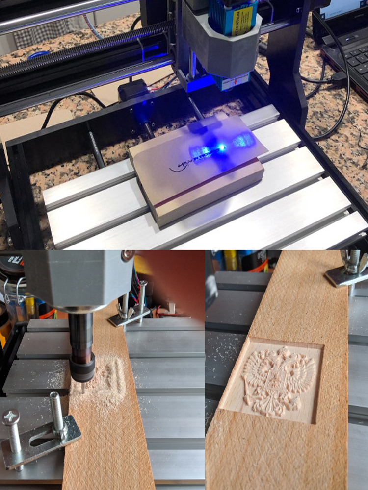 Laser Engraver Wood Hobby Cnc 3018 Mini GRBL PRO ER11 DIY for PCB PVC