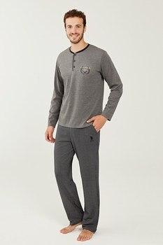 цена US Polo Assn Male Navy Blue Patlı Pajamas Suit 18248 онлайн в 2017 году