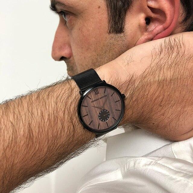 Фото мужские водонепроницаемые часы с сетчатым ремешком из нержавеющей
