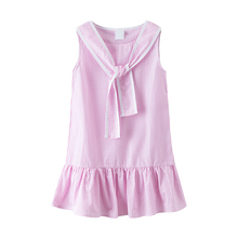 цена на 7 seconds fish kids dress for girl summer 100% cotton Toddler Baby Dress  3 4 5 6 7 8 9 10 11 12  Years Children't  Vestidos