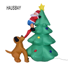 1.8M Giant Inflatable Christmas Tree Decorations Santa Claus  Outdoors Ornaments Xmas New Year Gift Party Home Garden Toys Yard Decoration EU Plug US X012