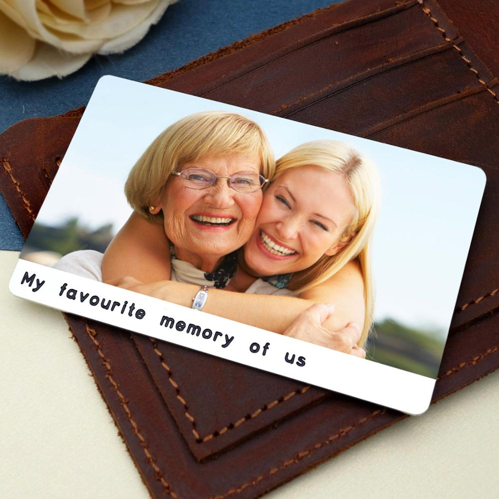 Personalized Photo Wallet Card Custom Picture Insert Card For Wallet Engraved Wallet Card For Grandma Gift For Him Her
