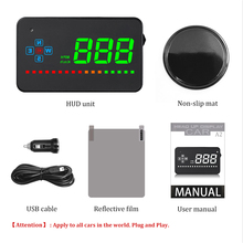 Car Speed Projector GPS Digital Car Speedometer For A2 Electronics Head Up Display Auto HUD Windshield Projector