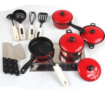 13pcs/set Cooker Set Pot Pan Utensil Pretend Play Toy Kid Baby Plastic Kitchen Ware Fun Lovely Educational Gifts For Boys Girls