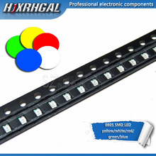 1pcs 0805 SMD LED diodes light yellow red green blue White new and original hjxrhgal(China)