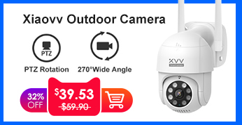 Xiaovv Smart P1 Outdoor Camera 1080P 270° PTZ Rotate Wifi Webcam Humanoid Detect Waterproof Security Camers Work For Mi Home App