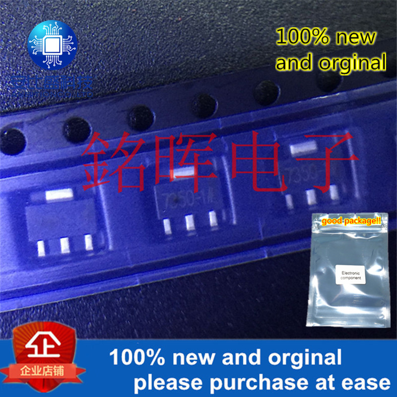10pcs 100% New And Orginal HT7350 Silk-screen 7350-1 5V SOT-89 Low Power Consumption LDO In Stock
