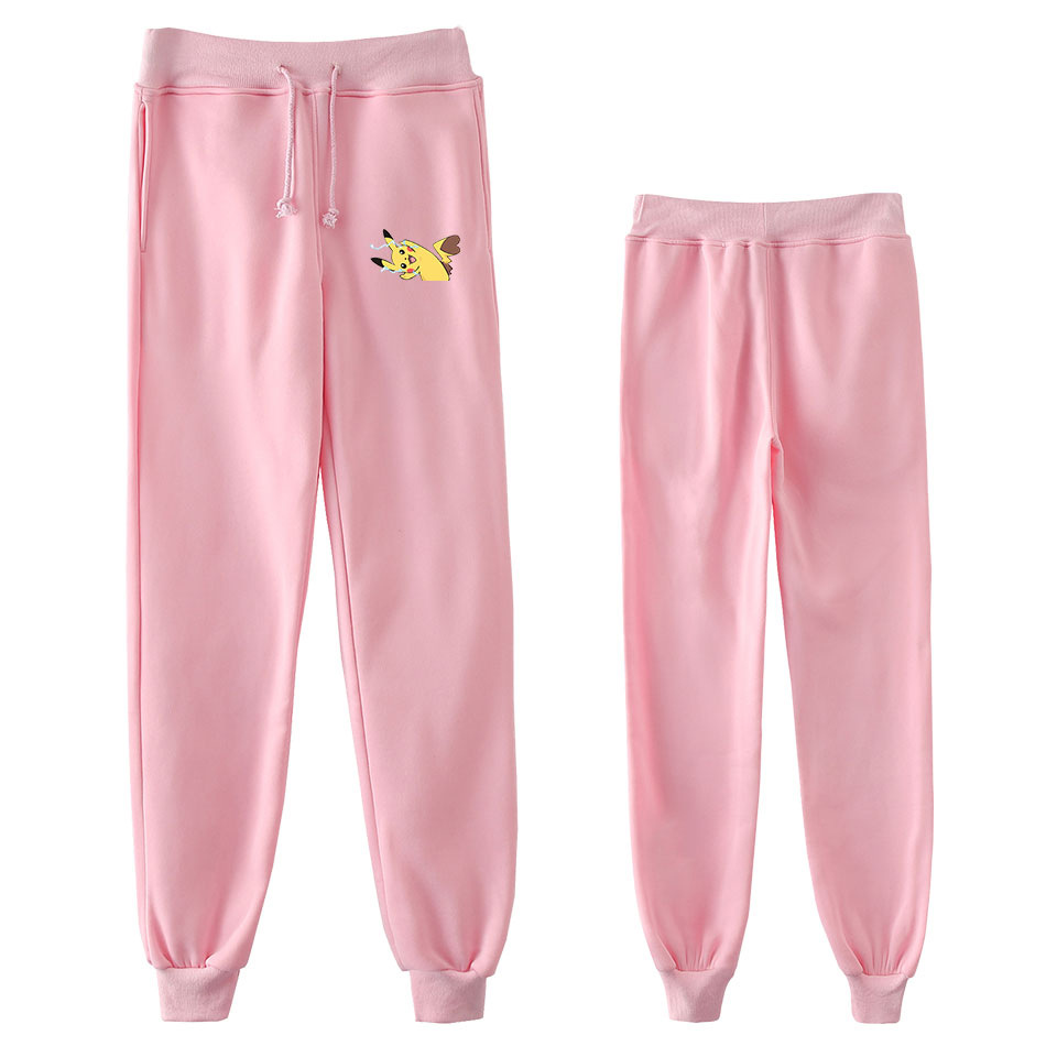 New Style Pokemon Anime Peripheral Trend Versatile Loose Casual Ankle Banded Pants