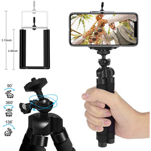 Image 4 - Mini Flexible Sponge Octopus Tripod 360° Adjustable Travel Portable Camera Stand   Compatible with  Cell Phones, Sport Cameras