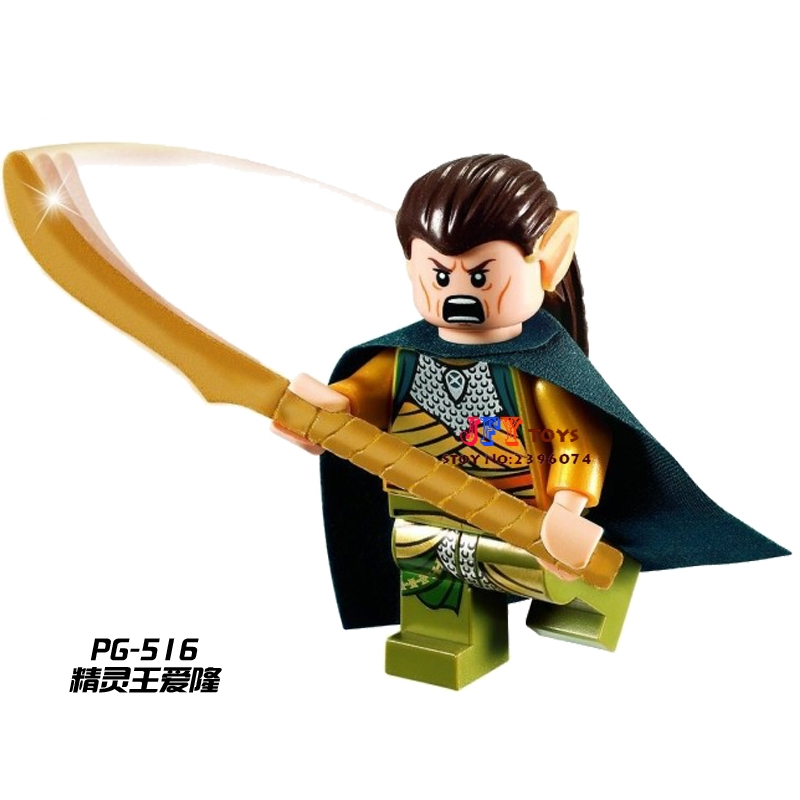 Single Sale Superhero The Elrond Elf LOTR Building Blocks Model Bricks Toys For Children Action Figures