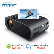 Everycom M7 LED Video Projector HD 720P Portable HDMI Optional Android Wifi Beamer Support Full HD 1080P Home Theater Cinema