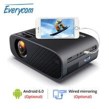 ايفركوم M7 LED عارض فيديو HD 720P المحمولة HDMI اختياري أندرويد واي فاي متعاطي المخدرات دعم كامل HD 1080P المسرح المنزلي سينما