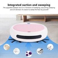 Robot aspirador automático 4 en 1, barrido con carga USB, mopa seca y húmeda, Limpiador desinfectante UV, fuerte succión