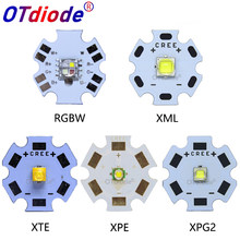 10 Pcs 3W 5W 10W Cree XML XPE XPG XTE LED Whtie, putih RGB Daya Tinggi LED Chip Pada 20 Mm PCB(China)